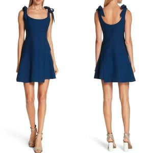 CINQ À SEPT Jeanette Tie Strap Dress Navy NWT 8